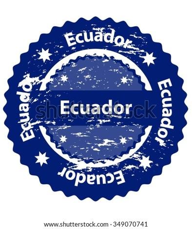 Ecuador Country Grunge Stamp - stock vector