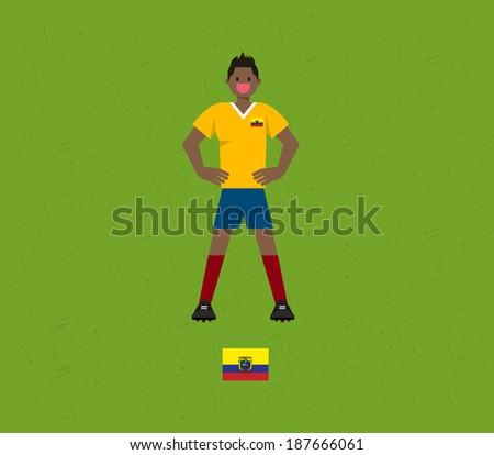 Ecuador Soccer Tables - stock vector