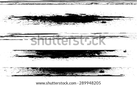 Edges Vector Set . Design Elements . Grunge Borders , Dividers or Brush Strokes .