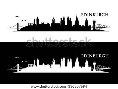 Edinburgh Skyline Vector Illustration Stock Vector ...