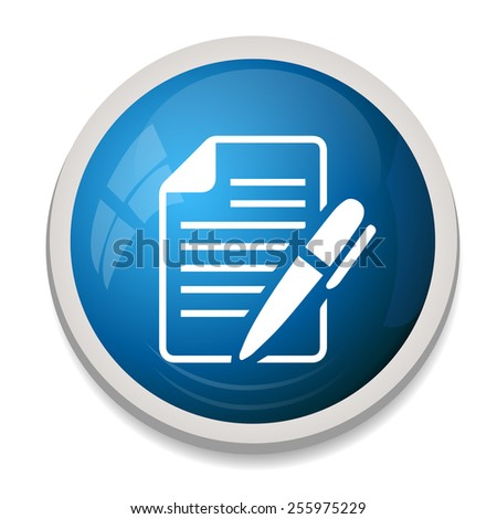 Edit document sign icon. Edit content button. - stock vector