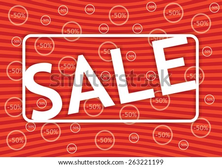 Editable banner for promotional actions with sale stamp - stock vector