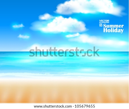 editable beautiful refreshing  summer and beach vector design