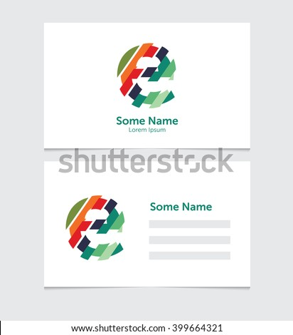 Editable business card template illustration vector stock vector editable business card template with illustration of vector e letter logo accmission Image collections