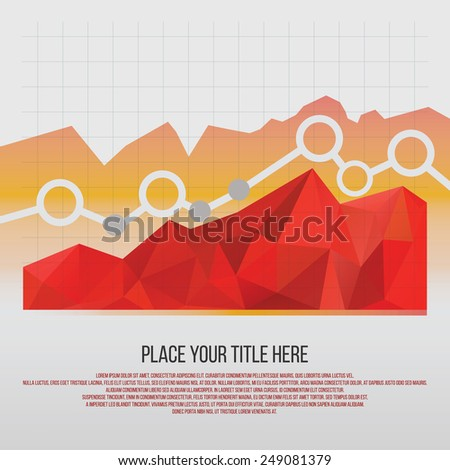 Editable business diagram graph chart with colorful bright triangle pattern vector design. - stock vector