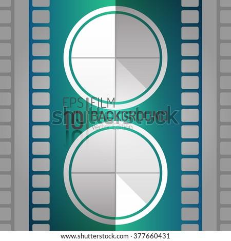 Editable Cinema Background Design. Vector Elements. Minimal Isolated Film Illustration. EPS10 - stock vector