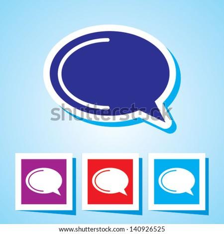 Editable Colourful Vector Icon of  speech bubble Eps 10 - stock vector
