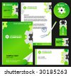 Editable corporate Identity template 2:  blank, card, pen, cd, note-paper, envelope - stock vector