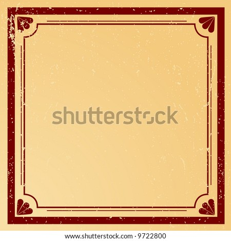 Editable grunge vector decorative border and background with space for your text or image. - stock vector