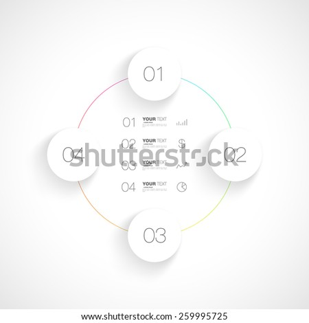 Editable infographic design isolated on white background for your text vector stock eps 10 illustration - stock vector