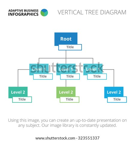 editable infographic template vertical tree diagram stock. Black Bedroom Furniture Sets. Home Design Ideas