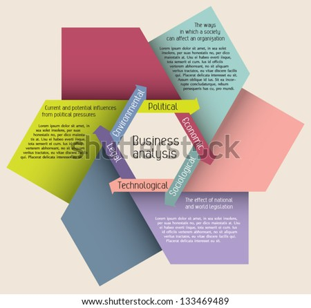 Editable modern colorful design template presentation with arrows forming the shape of hexagon and sample text for info-graphics / banners / graphic or website layout vector - stock vector