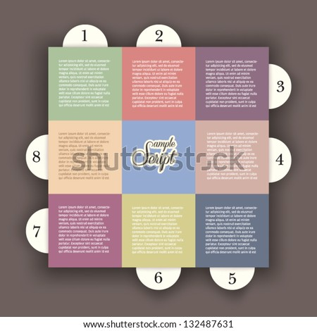 Editable modern colorful design template presentation with letters and numbers / for info graphics / numbered banners / graphic or website layout vector - stock vector