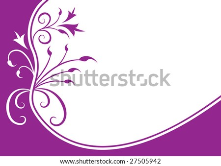 Editable ornate floral frame with clean space for your text or image - stock vector