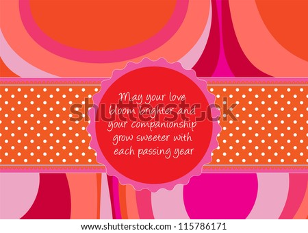 Editable Template For A Congratulations Card (wedding, Valentine, Engagement)  With Abstract Background  Engagement Card Template