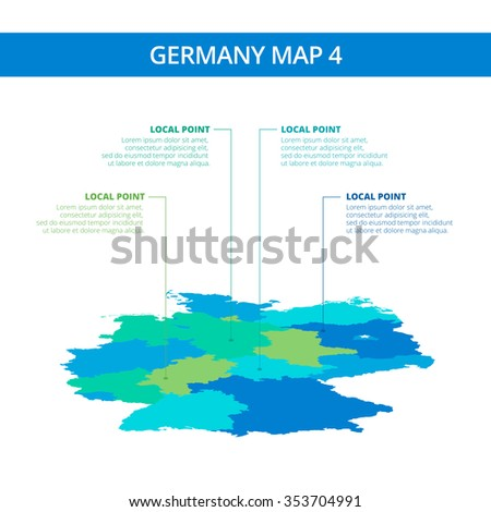Editable Template Detailed Map Germany Information Stock Vector - Germany map template