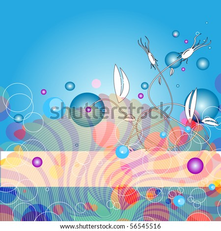 Editable vector abstract background with space for your text. More images like this in my portfolio