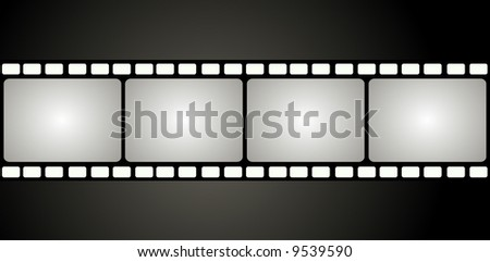Editable vector background - Film frame with space for your text or image - stock vector
