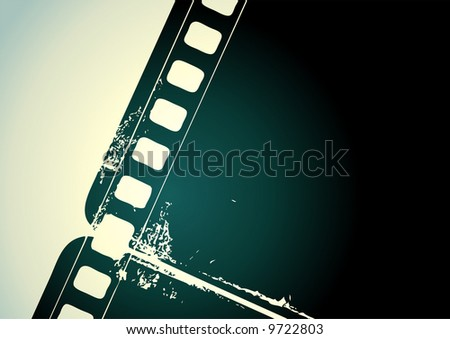 Editable vector background - grunge film frame with space for your text or image - stock vector
