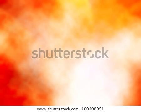 Editable vector background of smokey orange mist - stock vector