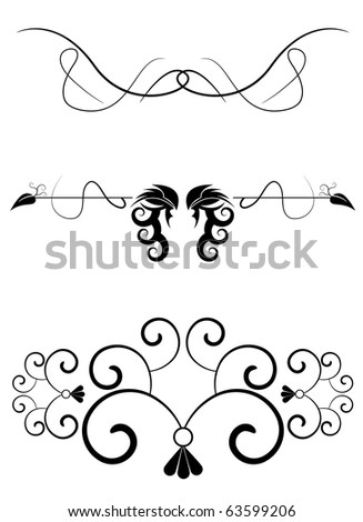 Editable vector design elements for your projects (individual objects). - stock vector