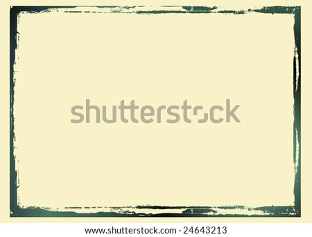 Editable vector distressed dark border . Nice grunge element for your projects. - stock vector