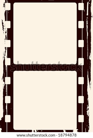 Editable vector grunge film frame , nice element for your projects - stock vector