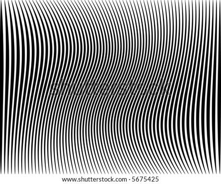 Editable vector illustration of a black stripe pattern - stock vector