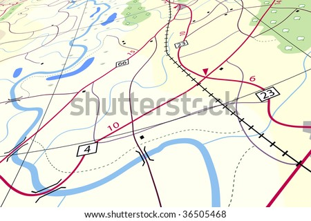Editable vector illustration of a generic roadmap without names - stock vector
