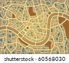 Editable vector illustration of a street map without names - stock photo