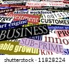 Editable vector illustration of business-related headlines with each headline as a separate object - stock vector