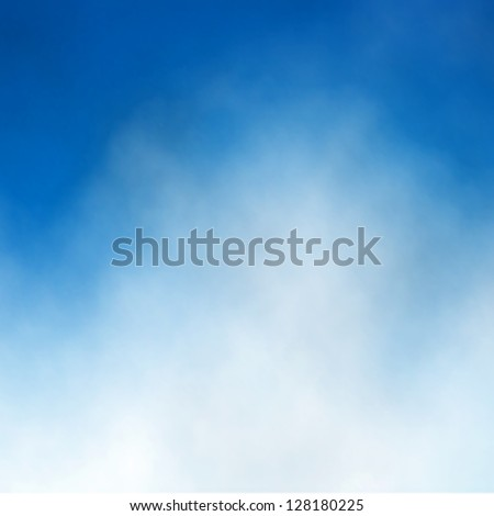 Editable vector illustration of cloud detail in a blue sky made with a gradient mesh - stock vector