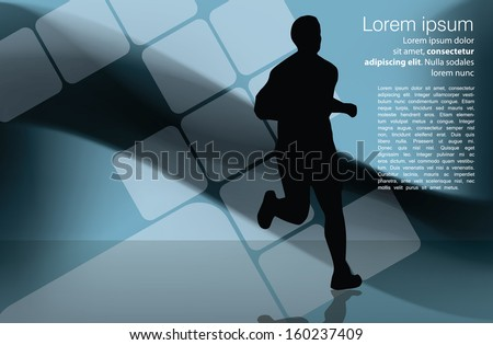 Editable vector illustration of runner
