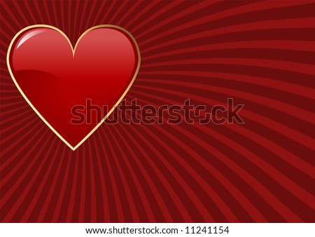 Editable vector Valentines day background