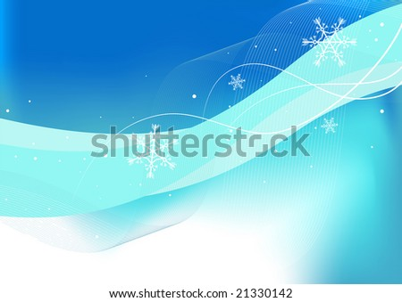 Editable vector winter background with space for your text