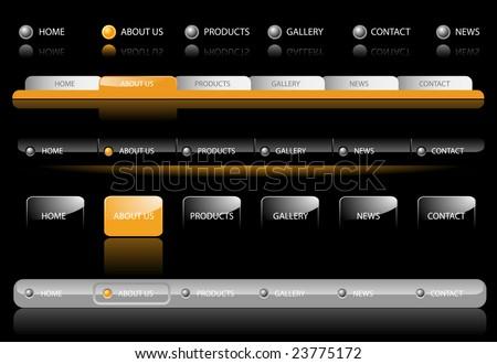 Editable Website Navigation Templates - Vector - stock vector