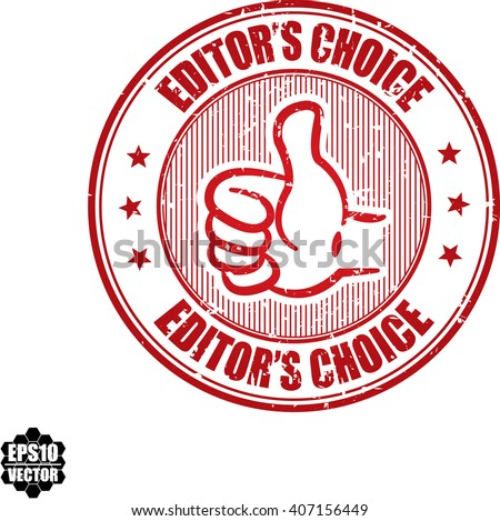 Editor's choice grunge stamp.Vector - stock vector
