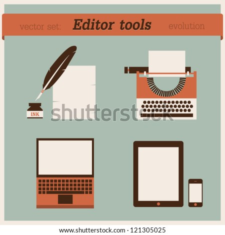 Editor tools - stock vector