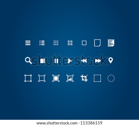Editor tools icon set - stock vector