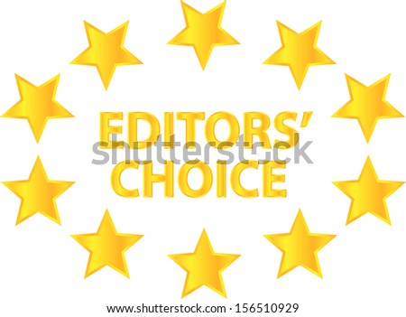 Editors Choice Of Quality Product - stock vector