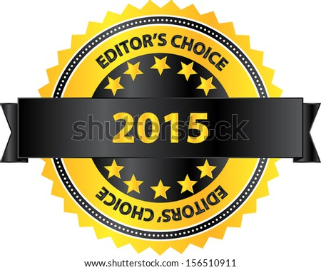 Editors Choice Product Of Year 2015 - stock vector