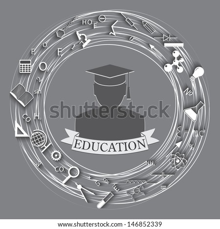 education abstract background. vector. eps10 - stock vector