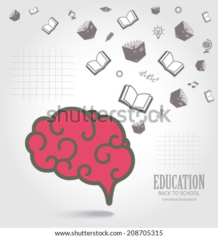 Education abstract conceptual background. - stock vector