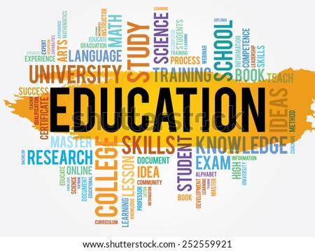 Education and learning word business collage concept - stock vector