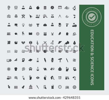 Education and science icon set,vector