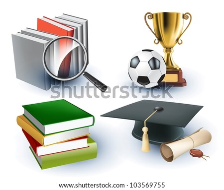 education background - stock vector