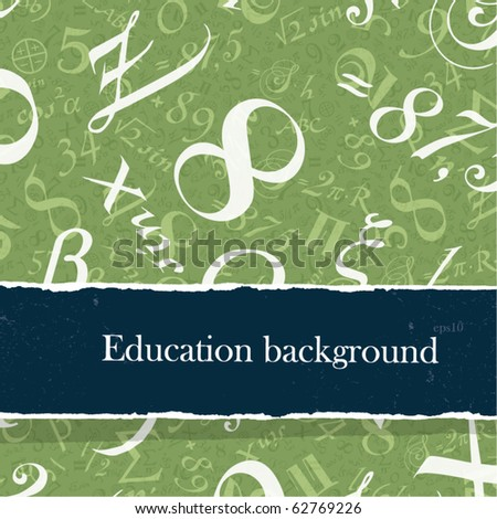 Education backgrounds set with copyspace. Easy editable by layers, eps10. - stock vector