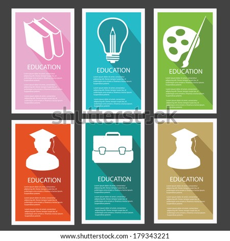 Education banner,vector - stock vector