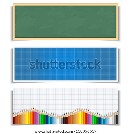 Education banners, vector eps10 illustration - stock vector