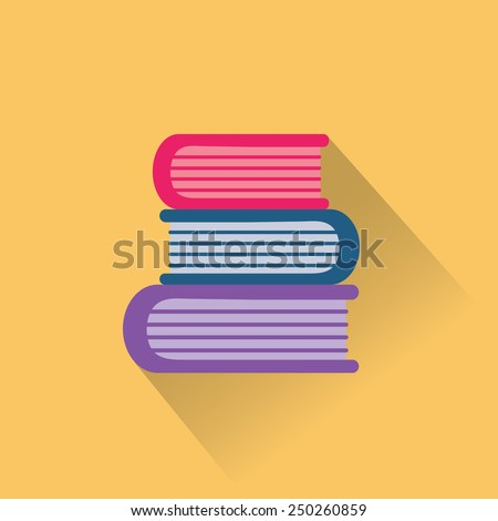 Education book. Flat vector icon - stock vector